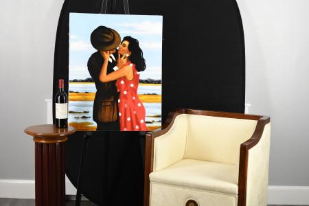 "Benson Ryal Oil on Canvas ""The Lovers"""