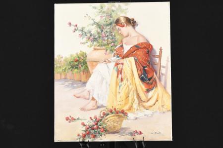 Original Oil on Canvas Female Study