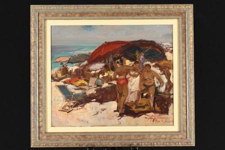 Original Oil on Canvas by Italian artist Gravina