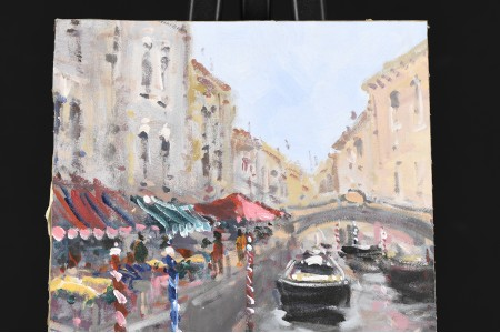Oil on Canvas Board by Benjamin Mas