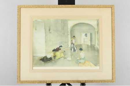 """Signed Limited Edition by Sir William Russell Flint. Titled """"Los Cientos"""""""