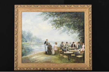 J.J. Hovener Original Oil on Canvas.