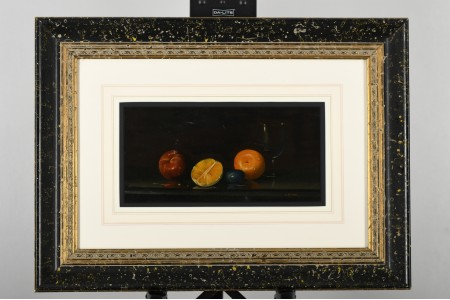 Framed Original Still Life Oil Painting by A. Caponi