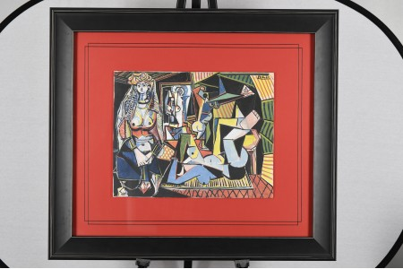 Limited Edition on Silk by Pablo Picasso Les Femmes DAlger (Version O)