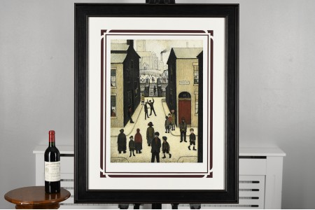 """L.S. Lowry Limited Edition titled """"The Steps, Irk Place, 1928"""""""