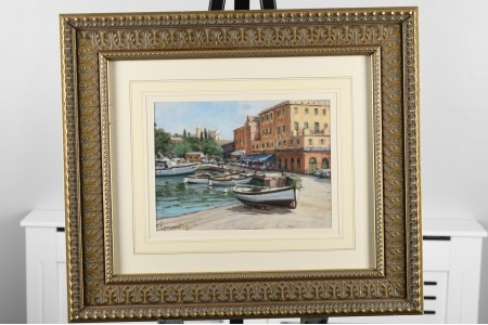 Original Costal Scene Painting by Romby