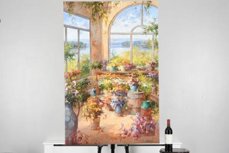Original Large Oil on Canvas by Italian Artist Raffandre