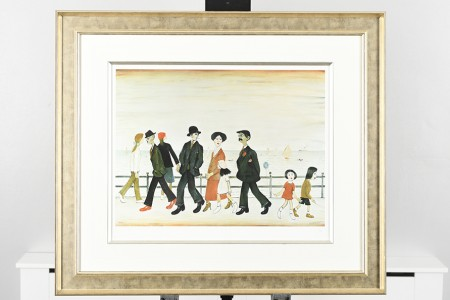 """Limited Edition L.S. Lowry """"On The Promenade"""""""
