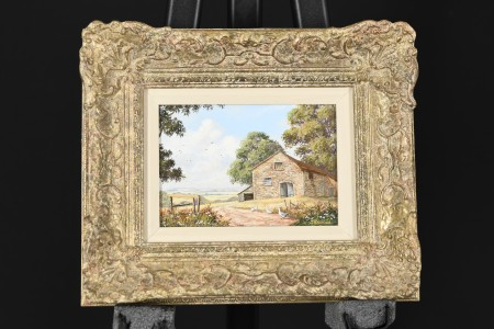 Framed Small Oil on Panel by English Artist Jonathan Hitchcock