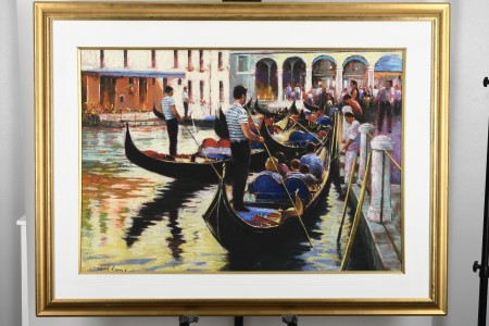 Very Large Original Painting by English Artist Tony Rome