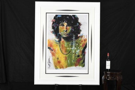 Large Authenticated Limited Edition by the Late Famous American Artist Sidney Maurer. (Jim Morrison)