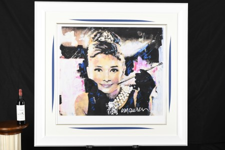 Large Authenticated Limited Edition by the Late Famous American Artist Sidney Maurer. (Audrey Hepburn)
