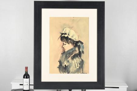 Original Framed Watercolour by Tedeschi
