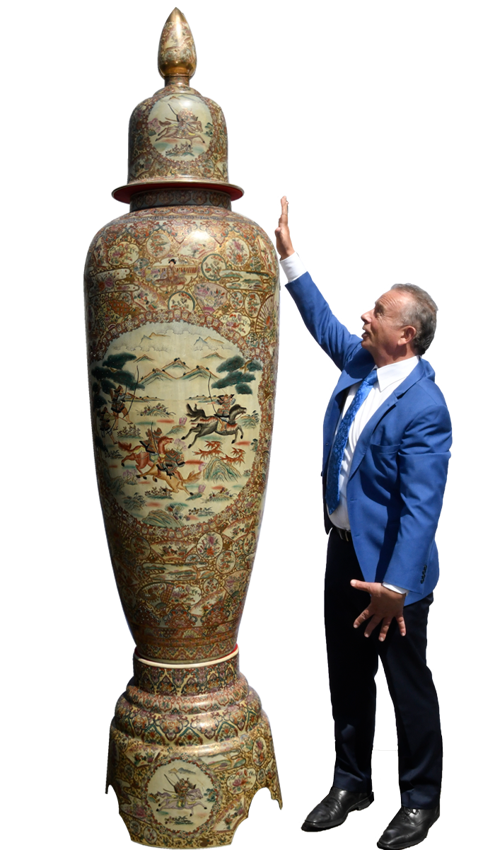 9ft porcelain temple jar